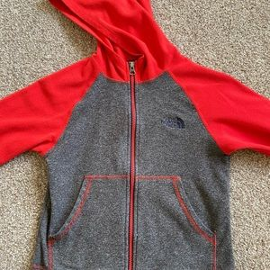 North Face fleece jacket.